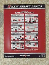 2013-14 New Jersey Devils (National Hockey League) team issued magnet schedule