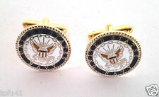 US NAVY CUFF LINKS Military Veteran 14769-C HO