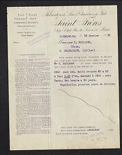 """CLERMONT-FERRAND (63) USINE / JUTE CHANVRE LIN COTON LAINE """"SAINT Freres"""" 1921"""