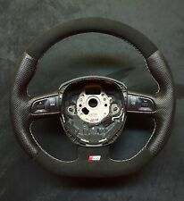 Steering Wheel AUDI  A4./S4  B7 B8  FLAT BOTTOM ! SPORT MODIFIED ALCANTARA
