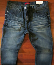 Guess Slim Straight Leg Jeans Men Size 30 X 32 Vintage Distressed Dark Wash