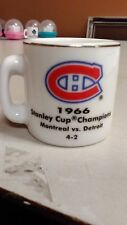 NHL STANLEY CUP CRAZY MINI MUG MONTREAL CANADIENS 1966 CHAMPS W/OPPONENT &SCORE