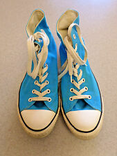 "Converse ""All Star"" sky blue canvas, high top basketball shoes.. Men's 11"
