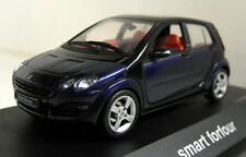 Schuco 1/43 Scale 04691 Smart Forfour Star blue / Jack black diecast car