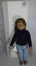 LOVELY BOXED GOTZ SASHA GREGOR DARK BRUNETTE DOLL 9508003 - TAGS, BOX & CLOTHES
