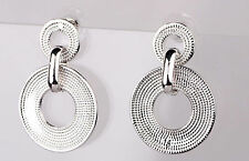 New Fashon Woman Vogue eardrop White Gold Filled Dangle Long 39mm Earrings 921