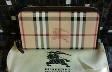 Burberry Haymarket Large Ziggy Zip Around Wallet, NWT