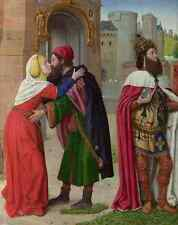 Metal Sign Master Of Moulins (Jean Hey) Charlemagne And The Meeting At The Golde