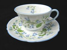 SHELLEY DEMITASSE CUP AND SAUCER - OLEANDER SHAPE - HAREBELL 13540