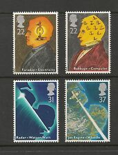 Great Britain #1360-1363 VF MNH - 1991 22p To 37p Scientists & Technology