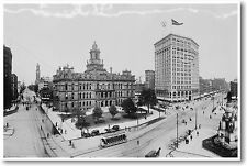 Downtown Detroit Michigan - Vintage Photo - Travel City Print - NEW POSTER