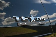 (ONE) TEXAS EDITION 3D EMBLEM DECAL CHEVY SILVERADO GMC SIERRA TRUCK UNIVERSAL.