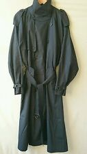 MEN'S YVES SAINT LAURENT NAVY BLUE LIGHTWEIGHT BELTED TRENCH COAT /MAC CHES