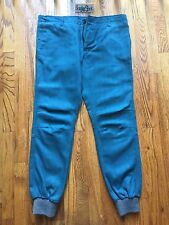 Kith NYC Mercer Herringbone Jogger Pants Teal Grey Ronnie Fieg RF Mens Size 32