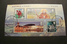 GB 2009 Commemorative Stamps~Wales M/S~Very Fine Used Set~UK Seller