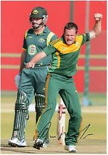 ROELOF VAN DER MERWE - Signed 12x8 Photograph - SPORT - SOUTH AFRICA CRICKET