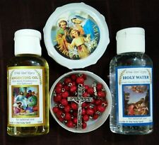 Anointing oil from Israel ,Holy water 1.7 Oz and rose scented Jerusalem rosary