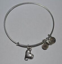 Alex and Ani Cupid's Heart Charm Bangle Silver Bracelet