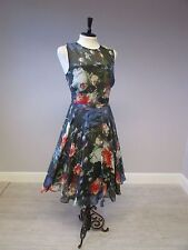 HOBBS FLORAL FIT AND FLARE  DRESS - SIZE 10 - MULTI - NEW WITHOUT TAGS