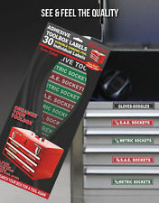 TOOLBOX LABELS peel & stick organize all tool boxes, storage chest find it quick