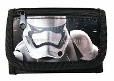 "New Disney Star Wars ""The Force Awaken"" Storm Tropper Tri Fold Wallet - Black"