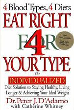 Peter J Dadamo - Eat Right For Your Type (1997) - Used - Trade Cloth (Hardc