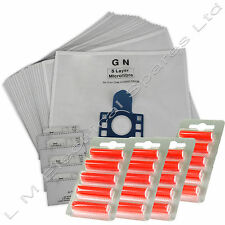 20 x GN Type Vacuum Dust Bags Filters & 20 x Air Fresheners For Miele S5281
