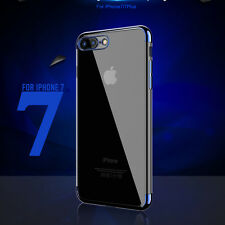 Slim Soft TPU Shockproof Electroplating Protective Case Cover For iPhone 7 Plus
