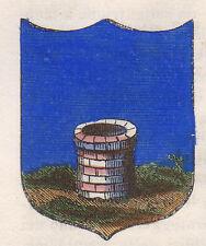 1865 Stemma di Puos d'Alpago (araldica civica), Belluno cromolitografia