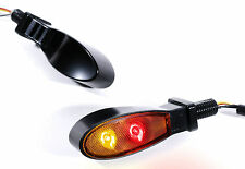 LED mini intermitentes luz trasera luz de freno negro motocicleta universal Custom Chopper