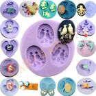 17 Sets Silicone Mould for Polymer Clay Candy Cake Decorating Fondant Chocolate