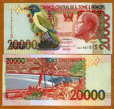 St Thomas & Prince, 20,000 (20000) Dobras, 1996 P-67 (67a), UNC   Colorful
