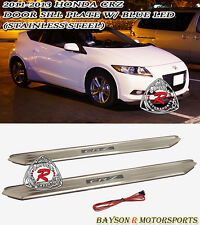 11-16 CR-Z 2dr JDM Style Side Door Sill (Stainless Steel) + Blue LED