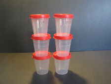 Tupperware Midgets Set of 6 - Salad Dressing Mayo Spices S&P & Red Seals New