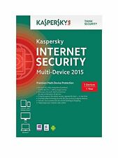 KASPERSKY Internet Security 2015 Multi 3 dispositivi 1 ANNO RETAIL DVD PC MAC ANDROID
