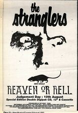 8/8/92PGN20 THE STRANGLERS : HEVEN OR HELL SINGLE ADVERT 7X5""