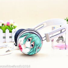 1pc White Earphone Anime Hatsune Miku HIFI Headphone Best Bass Phone Headset