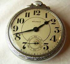 1901 Waltham No. 610 Pocket Watch in silver Star W.C. Emperor Locomotive Case