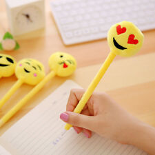 Emoji Emotion Ball Point Pen Cute Plush Stationary Favor Party Supply Filler New