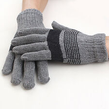 Men 's Womens Knitted  Winter Warm Gloves Thick Knitted Wool Gloves Mittens New