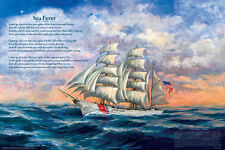 Sea Fever Laminated Educational Ships Boats Class Chart Poster 24x36