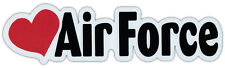 Car Word Magnet - Love Air Force (Heart) - Support Our Military!