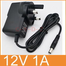 AC Converter Adapter DC 12V 1A Power Supply 12W 1000mA UK plug DC 5.5mm x 2.1mm