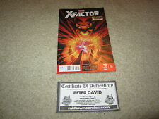 X-FACTOR #255 SIGNED BY PETER DAVID WITH COA FROM MIDTOWN COMICS!!!