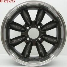 1 ROTA RB 15X7 4X108 ET30 73.1 HUB GUN METAL RIM WHEELS