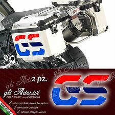 2 Adesivi Stickers BMW R 1200 gs valigie GS big adventure 30 anniversario S