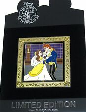 RARE LE 100 Disney Pin✿Beauty Beast Belle Wedding Princess Mirror Original Dress