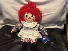 """Raggedy Ann Kohl's Cares 15"""" Plush Doll New With Tags"""