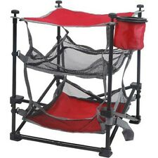 Red Folding Camp End Table Camping Shelves Tent Outdoor Organizer RV