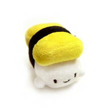 "Decorative Pillow Cotton Food Tamagoyaki Egg Sushi Plush Cushion 2.5"" Keychain"